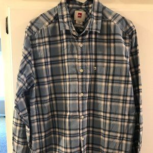 Mens Long Sleeve Collared Shirt Button Down